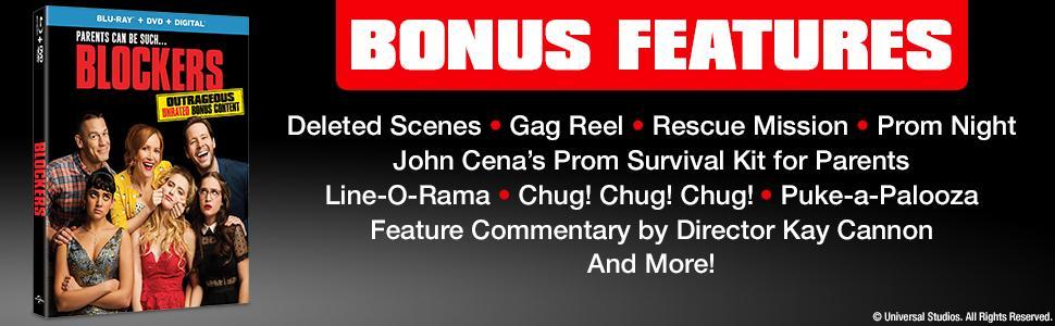 blockers, deleted scenes, gag reels, behind the scenes, bonus features, jokes, funny, comedy