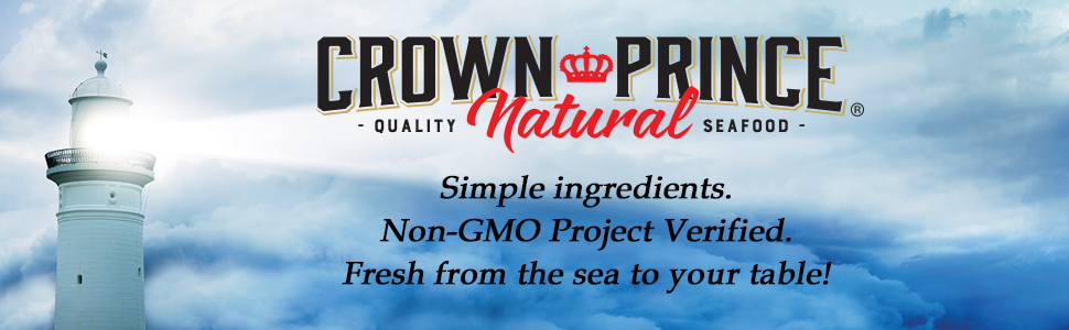 Crown Prince Natural Quality Canned Seafood Simple Ingredients Non-GMO Project Verified