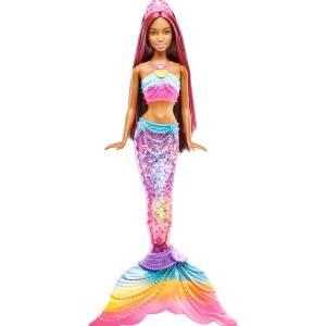 Amazon.es: Barbie- Fantasy Muñeca Dreamtopia Sirena Luces de ...