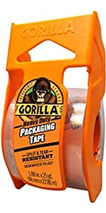 gorilla packing tape packaging moving shipping storage with dispenser