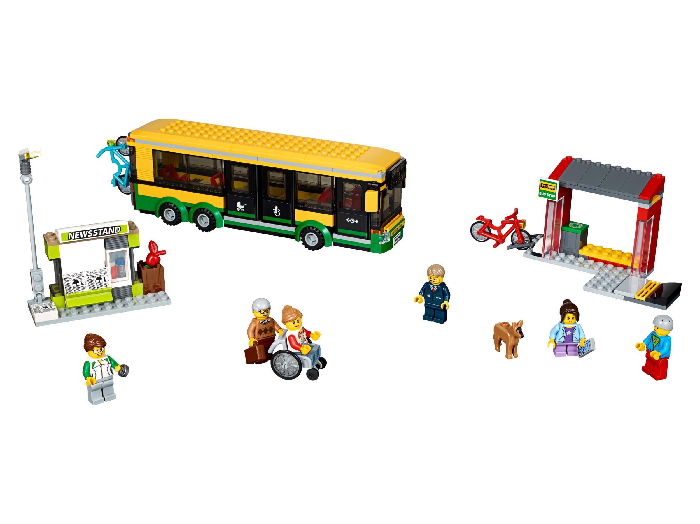 LEGO CITY - Estación de Autobuses, Juguete de Construcción