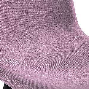 Mc Haus MARRÓN Pack 2 Sillas Salón Comedor AFRA Color Efecto Cuero, Telas, 46x43x86cm