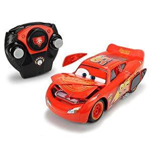 Crash Cars 3 Car Rayo McQueen radio control ventanas capó deformable accidente turbo