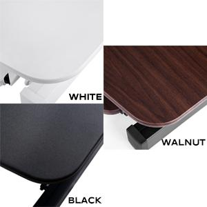 electric desk converter riser color choices wood finish matte solid