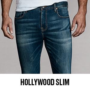 William Rast Men's jeans; jeans for men; denim; hollywood slim straight jeans