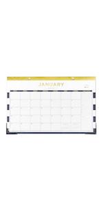 day designer for blue sky, navy stripe collection, 2019 calendar, 17x11, stripes design
