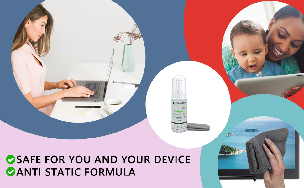 SPN-TP3A0 UltraProlink Gadget Sanitizer Universal Cleaning Kit Perfect for Mobile Screen Television