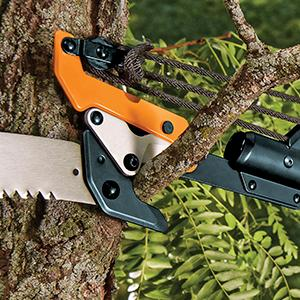New tree pruner pole saw fiskars 7 14 foot chain drive extendable high branches are within reach with the power lever extendable pole saw pruner which includes two different cutting options and extends up to 14 feet greentooth Gallery