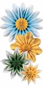 Floral Sunshine Paper Flowers