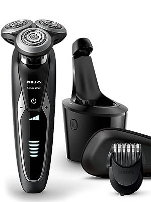 Philips Serie 9000 S9531/26 - Máquina de afeitar con cabezales de 8 direcciones, seco/húmedo, 3 modos y sistema de limpieza SmartClean, incluye recortador de precisión y funda de viaje, negro: Amazon.es: Salud