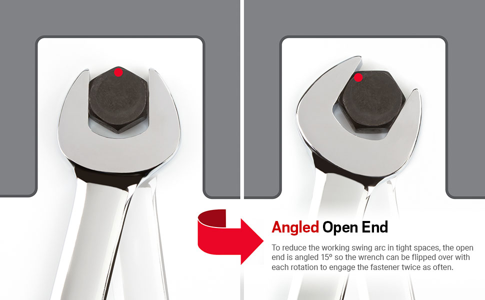 Angled Open End