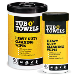 Tub O Towels - Heavy Duty Cleaning Wipes, 90 Count Canister and 40 Count Canister