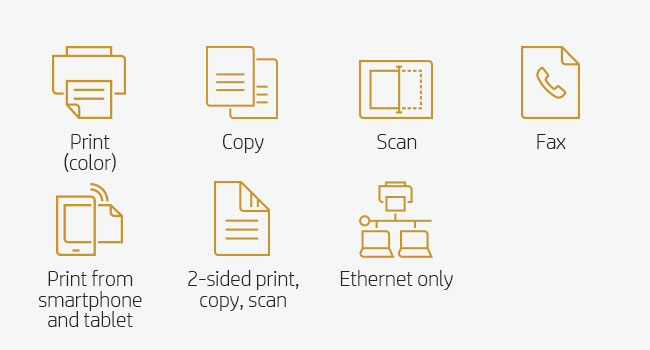 print scan copy fax mobile device smartphone tablet printing copying scanning Ethernet