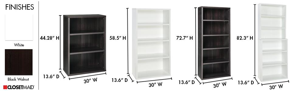 Amazon.com: ClosetMaid 13505 Decorative 6-Shelf Premium