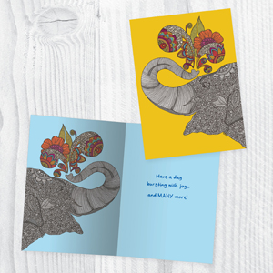 The inside of each card is artfully designed to add to your handwritten note.