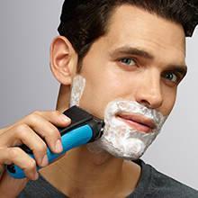 Braun Series 3 ProSkin 3040s Wet & Dry Rasoio Elettrico Ricaricabile, Rasoio da Barba per Uomo, Blu
