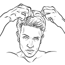 hair stylers for men;mens hair stylers;natural shiny hair;sporty look;perfect hold;gel for shinyhair