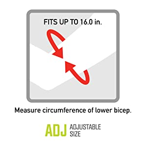 Fits up to 16 inch circumference lower bicep