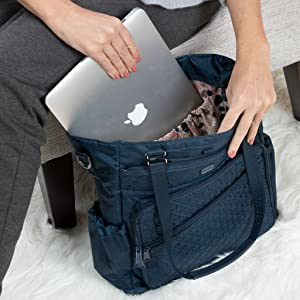 bag with pockets, bag with organization