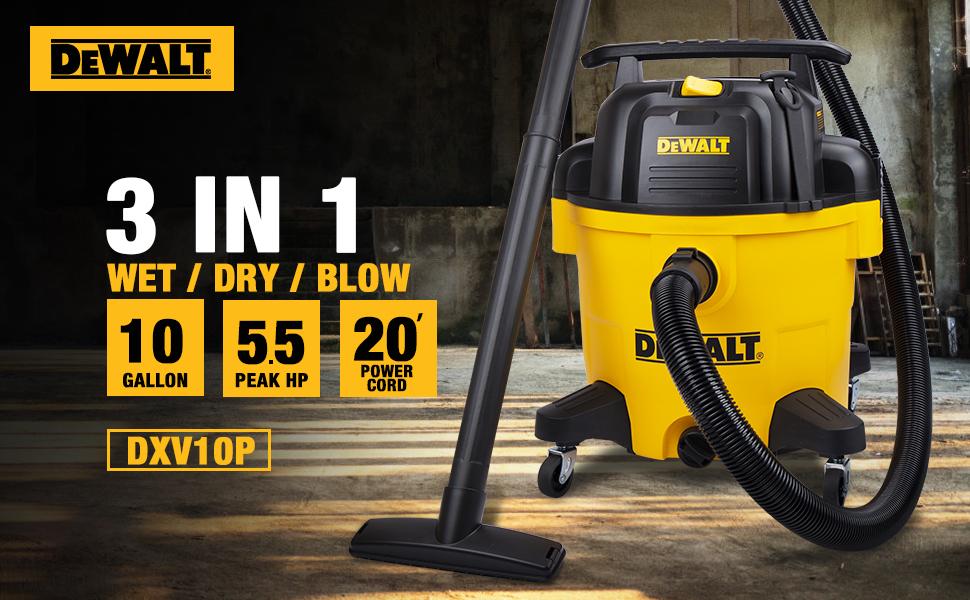 3 in 1 wet dry blow shop vacuum