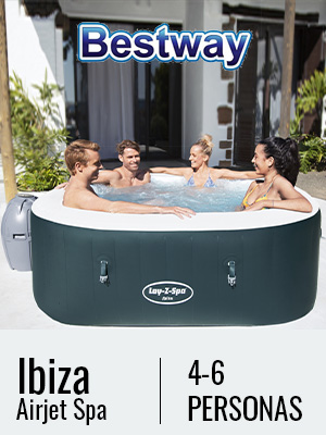 Bestway 54291 - Spa Hinchable Lay- Z-Spa Ibiza Para 4-6 personas ...