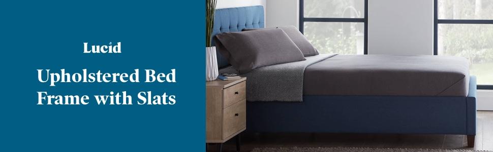 Lucid Upholstered bed with slats bed frame box spring