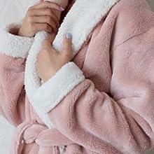 Pink Keila Sherpa Robe