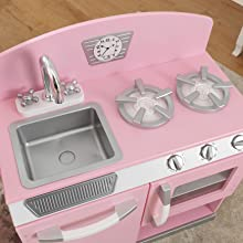 KidKraft Pink Retro Kitchen and Refrigerator: Amazon.ca: Toys & Games