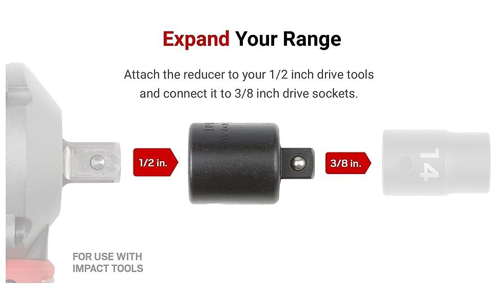 Tekton 1 2 Inch Drive F X 3 8 Inch M Impact Reducer Sia23101 Amazon Com