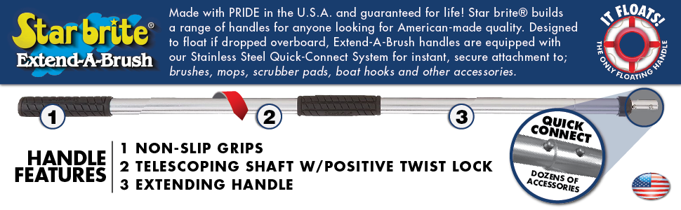 heavy duty - guaranteed for life - made in the usa - floating handle pole