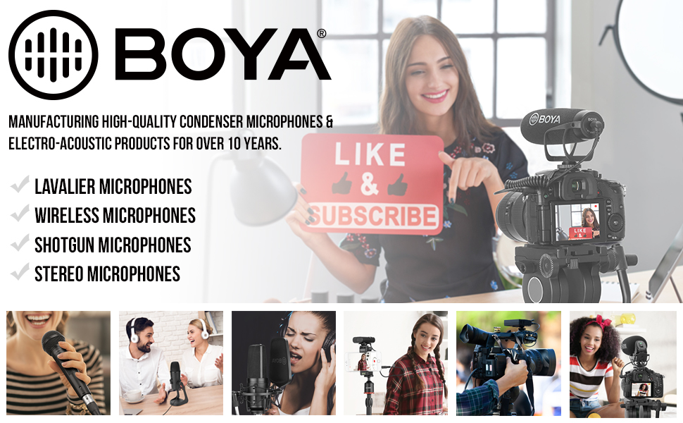 Boya Fovitec wireless handheld microphone for wireless audio recording