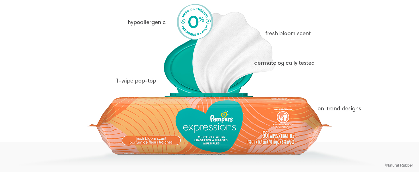 Pampers Expression Wipes Fresh Bloom Product Tour