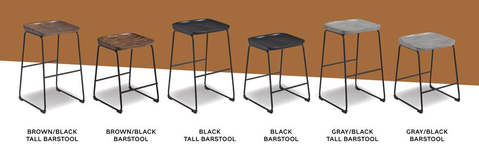 counter height pub height bar stool barstool bar stools barstools black brown gray grey mixed media