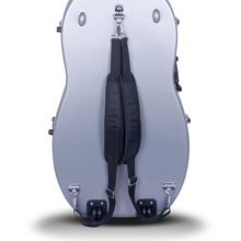 Crossrock CRA860CEFBL ABS Molded Cello Case with Wheels in Blue- For Both 4/4 Size and 3/4 Size