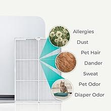 Alen 75i True HEPA filter Odorcell allergies dust pet hair dander sweat pet odor diaper odor