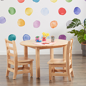 Playroom table, wood table, solid wood desk, snack table, chairs for kids, kids table and chair set
