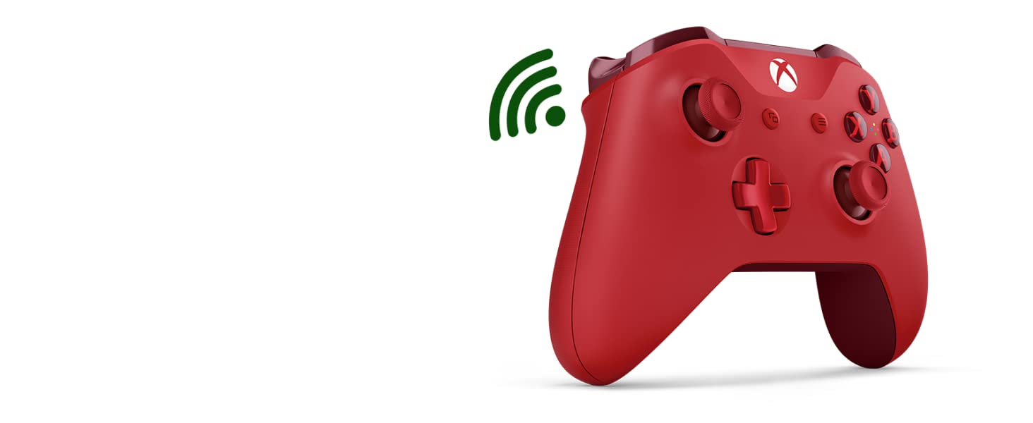 Microsoft - Mando Inalámbrico, Color Rojo (Xbox One), Bluetooth: Microsoft: Amazon.es: Videojuegos