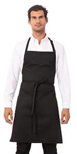 Chef Works Unisex Butcher Apron, Black