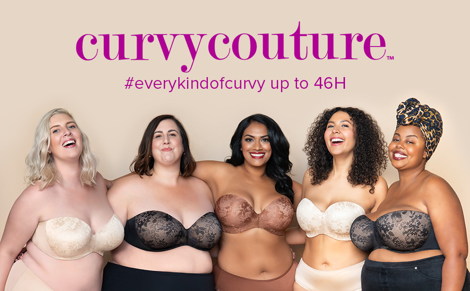 Details about  /Curvy Couture Women/'s Plus-Size Tulip Smooth Push UP Bra Bra