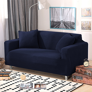 sancua Stretch Spandex Sofa Cover 3 Seat Couch Cover Anti-Slip Sofa Slipcover with Elastic Bottom for Living Room Furniture Protector Couch Slipcover ...
