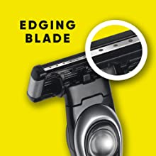 precision edging blade as bikini trimmer or for sideburns and under nose shaving