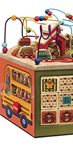 activity center, infant, toddler, interactive, learning, educational, wooden, bead maze, images