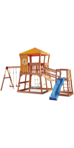 Little Tikes Real Wood Adventures Grizzly Grotto Outdoor Playset