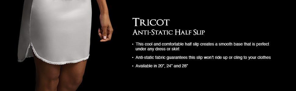 be1fb758110c0 Vassarette Women s Tailored Anti-Static Half Slip 11122 at Amazon ...