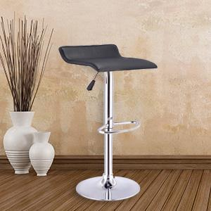 costway pu leather backless bar stools set of 2 black