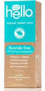 Sweet mint, fluoride free toothpaste, hello, natural
