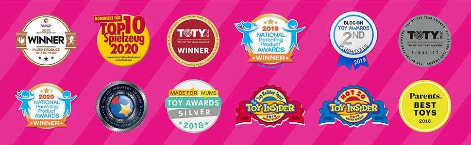 best toys, award winning toys, best in class, rainbocorns, best christmas toys