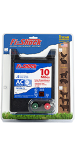 fi-shock, fence charger, energizer, 10 mile, horse, cattle, pigs, goats, poultry, pets, wildlife