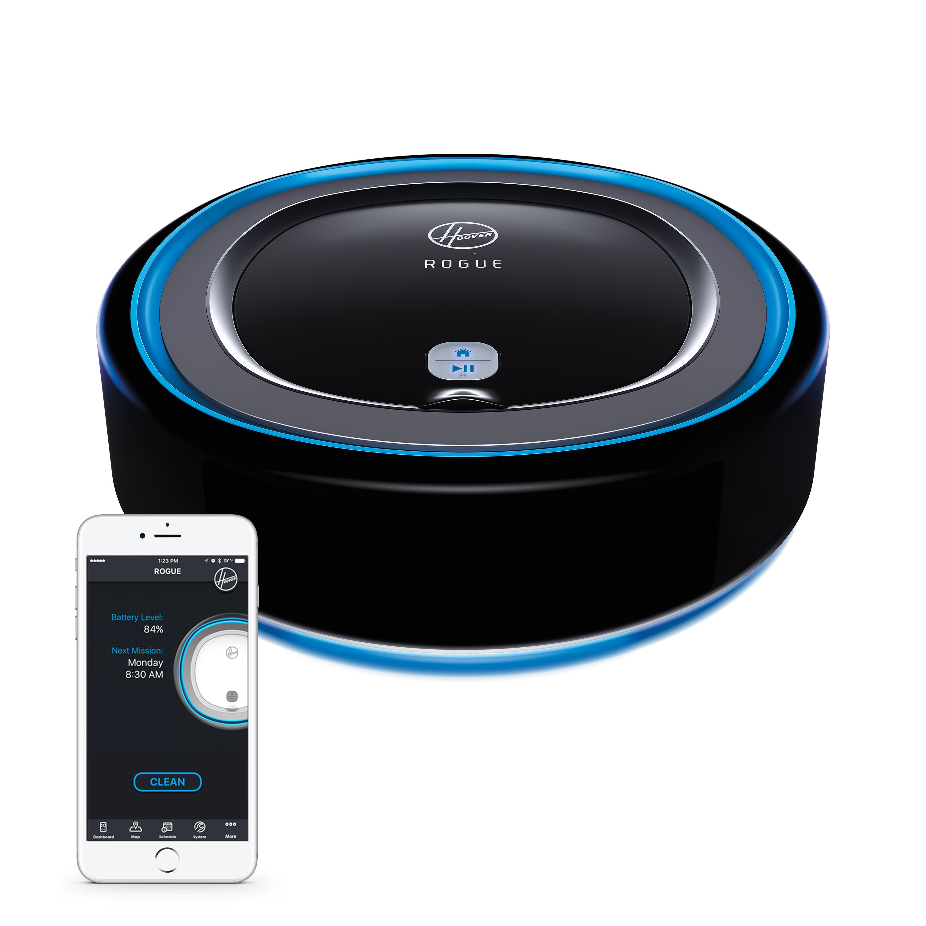 new hoover rogue robot vacuum latest sensory smart technology locodor. Black Bedroom Furniture Sets. Home Design Ideas