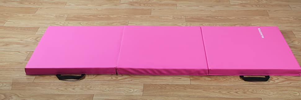 """BalanceFrom 2"""" Thick Tri-Fold Folding Exercise Mat with Carrying Handles"""